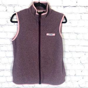 Columbia PFG Purple And Pink ZIP Up Vest